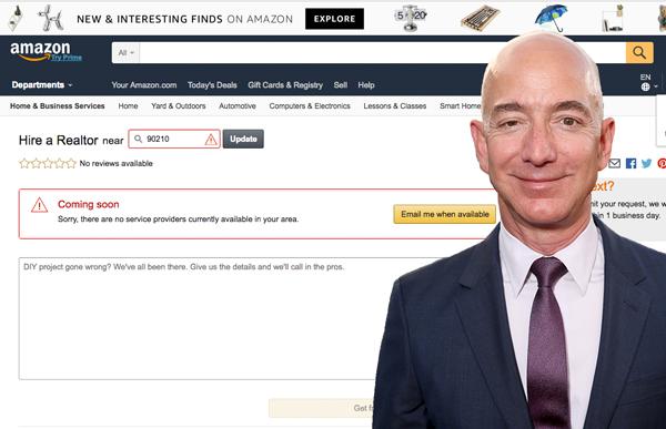 Amazon si appresta ad entrare nell'immobiliare?